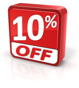 New Customers Receive 10% Off