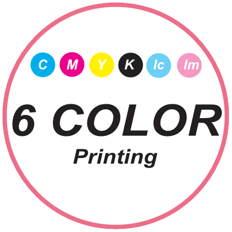 6 Color Printing - CMYK+Lm+Lc
