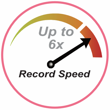 Record Speed - Up to 6x