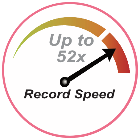 Recording Speed - Up to 52x
