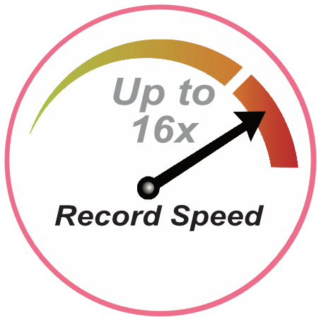 Record Speed - Up to 16x