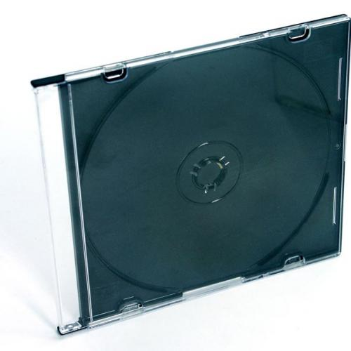 Slim CD Jewel Case Black Tray