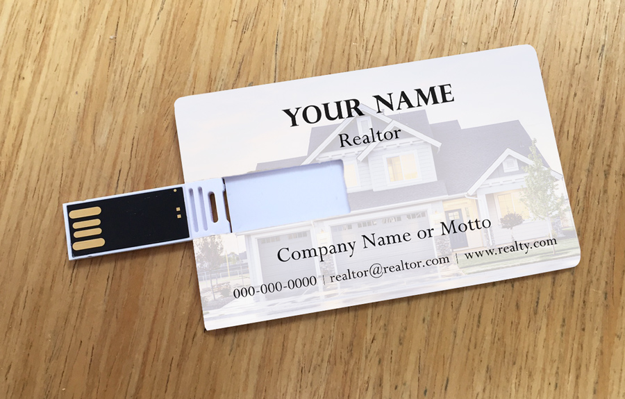 8 free realtor resources plus a free usb business card design custom printed usb business cards for real estate agents reheart Image collections
