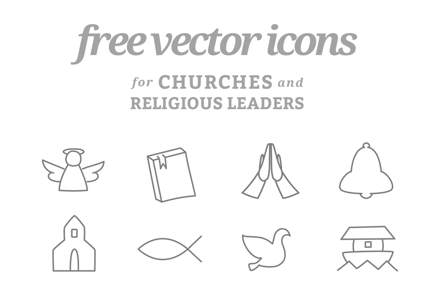 8 Free Vector Icons for Churches and Religious Leaders by BlankMediaPrinting.com - one of the nation's leading custom CD, DVD, and Blu-Ray printers.