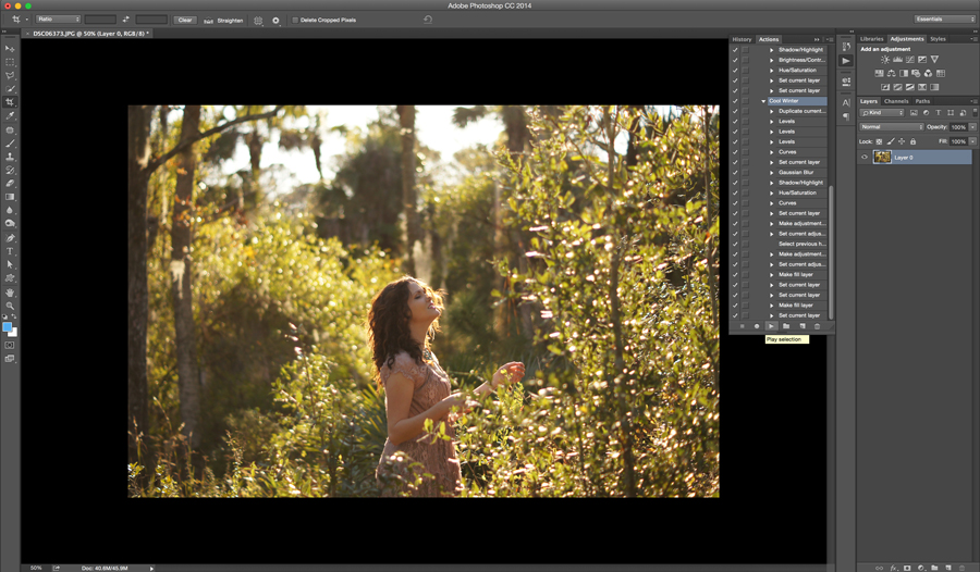 How to Run a Photoshop Action